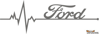 Calco Ford En Mi Sangre 20 X 7 Cm - Graficastuning