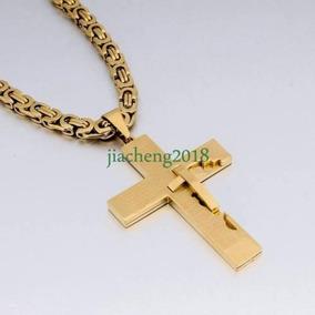 0766234f50c9 Gold - 6mm Oro Caja Bizantina De Plata Hombre Cadena Ac-7302