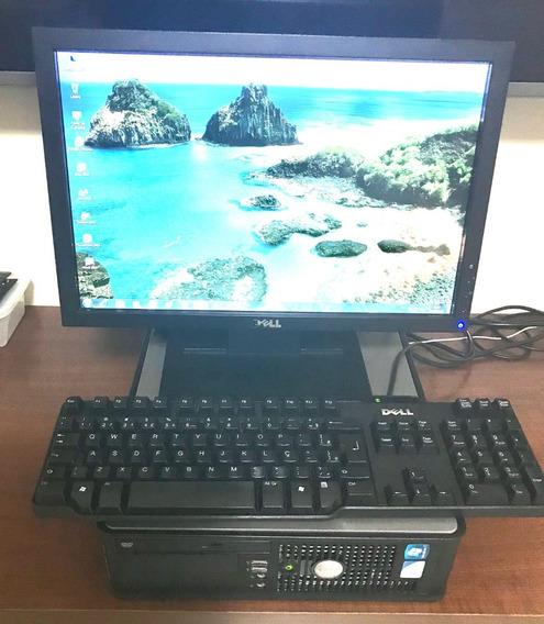 Computador Dell Op780 Core2duo 4gb Hd 1tera +monitor Dell 17
