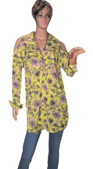 47 Street Camisa Floreada Hombro Descubierto Promo