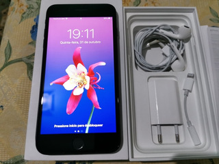 iPhone 7 Plus 128gb Preto Original Completo!!!
