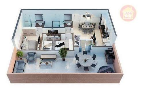 Apartamento À Venda, 57 M² Por R$ 307.800,00 - Boqueirão - Praia Grande/sp - Ap5366