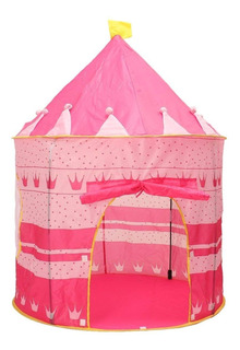 Carpa Castillo Para Niñas Niños Rosada O Azul 4 Varillas