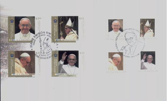 Estampillas Vaticano Papa Francisco Argentina