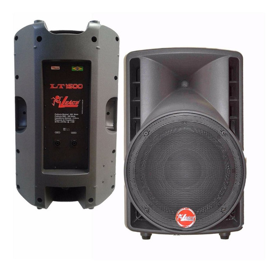 Caixa Acústica Passiva Leacs Lt 1500 Na Maxcomp Musical