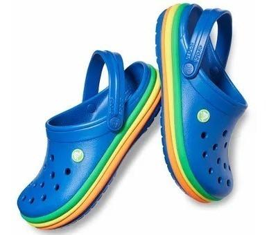 Crocs Rainbow Original Hombre Mujer Azul Rosa