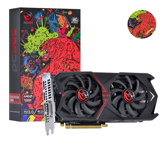 Placa De Video Rx570 4gb Ddr5 256b Dual-fan Pj570rx256gd5