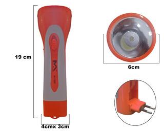Lanterna Recarregável De 1 Led Para Uso Doméstico Max-7288w1