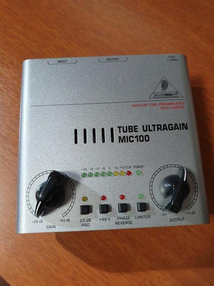 Pré Amplificador Mic 100 Da Behringer.