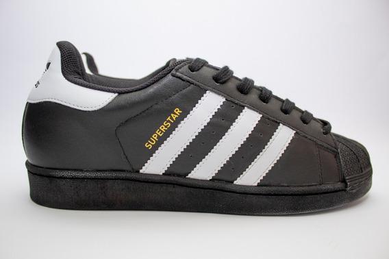 Tênis adidas Superstar Foundation Preto E Branco - Original