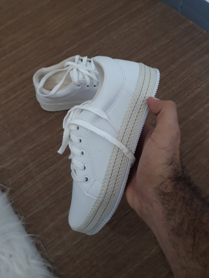 Luxuoso Tenis Branco Cordinha Exclusivo !!