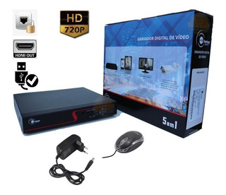 Dvr 4 Canais Hd Ver Celular 720p Hdmi 12x S/ju Frete Grátis