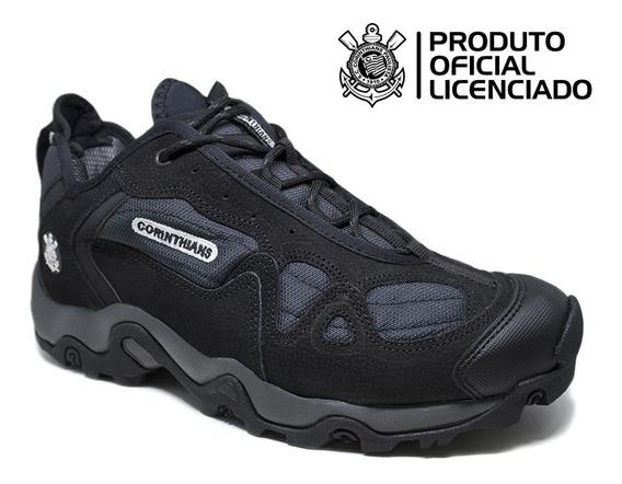 Sapato Estival Casual Adventure Em Couro Corinthians Com Ca