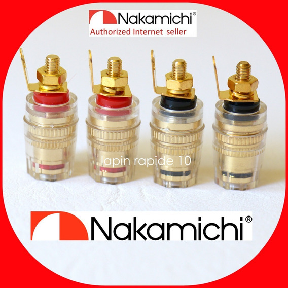 4 Plugs Femeas Nakamichi Made In Japan Em Sp