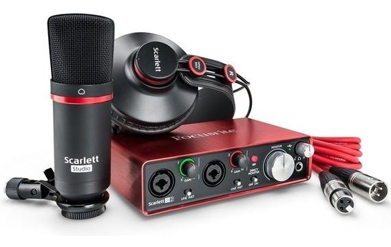 Focusrite Scarlett Studio 2i2 . Kit De Gravação