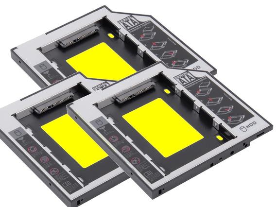 Adaptador De Dvd Para Hd / Ssd Caddy Notebook 9,5mm 3un