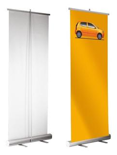 Banner 85x200 Con Portabanner Roll Up Gigantografias Ploteos