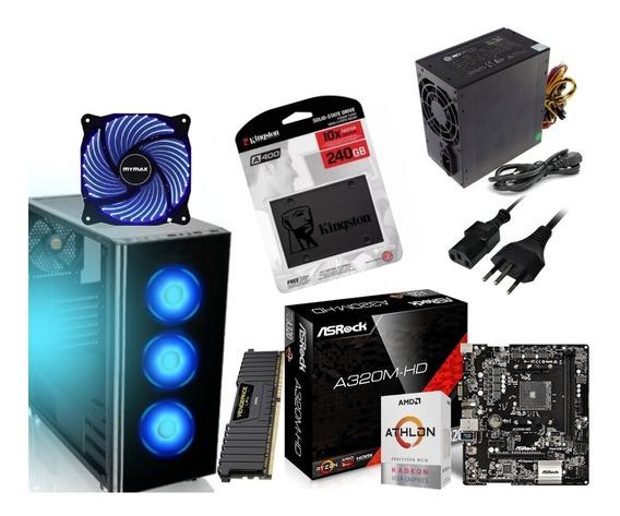 Pc Gamer 5 Cores Ssd 240 + Memoria 8gb Ddr4 O Mais Completo!