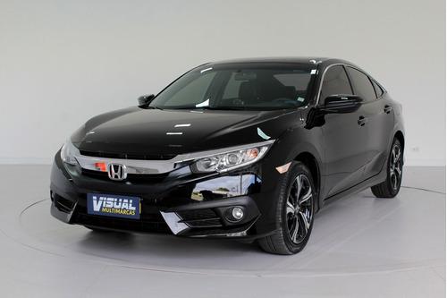 Honda Civic 2.0 Ex Flex 4p Automático Cvt 7m - 2018 - Preto
