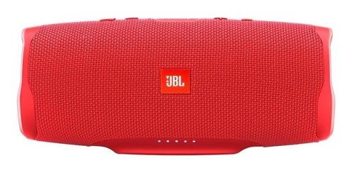 Caixa de som JBL Charge 4 portátil com bluetooth  red