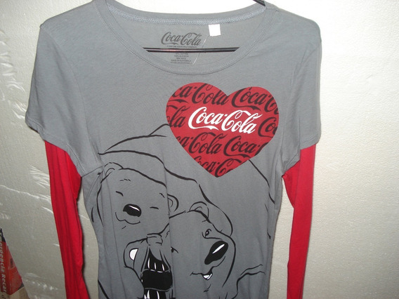 Blusa Manga Larga Coca Cola Vintage Dama Unitalla