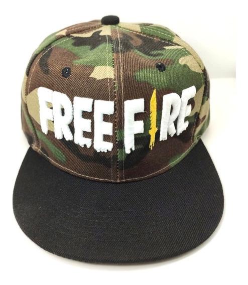Gorra Free Fire Snapback Gamer Unitalla Adult Camuflaj Envio