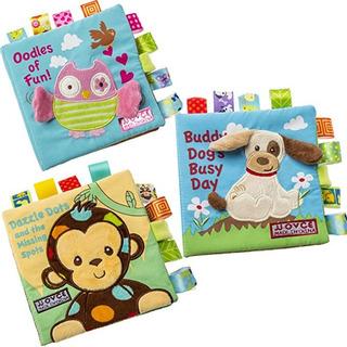 Set Libros Animales Tela + Ruido Educación Temprana Bebé Her