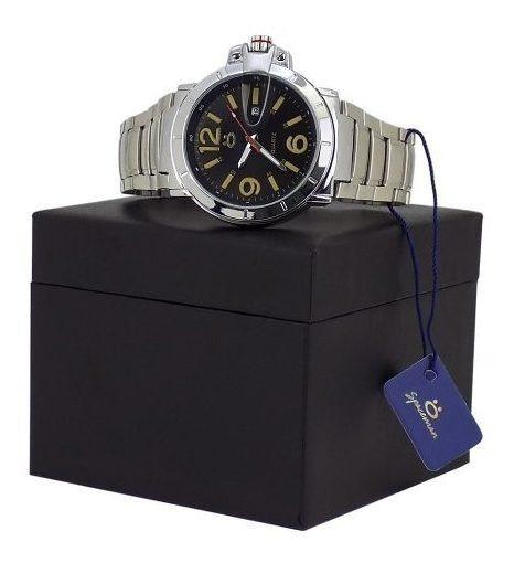 Relógio Masculino Prata Funcional 100%