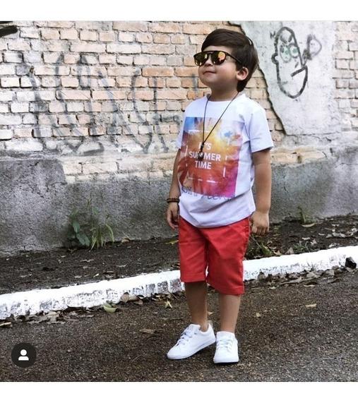 Conjunto Masculino Infantil 3 Peças Tam. 3 Roupa Menino