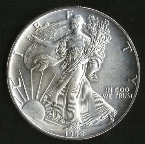 Estados Unidos Moneda Onza De Plata 1992 1 Dollar Argentvs