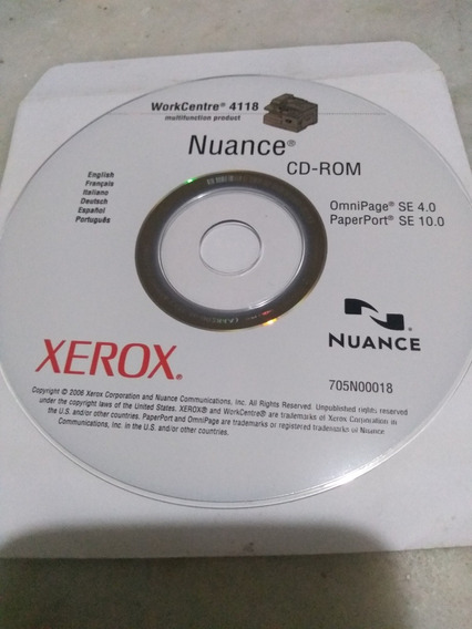 Cd Rom Xerox Workcentre 4118 Nuance