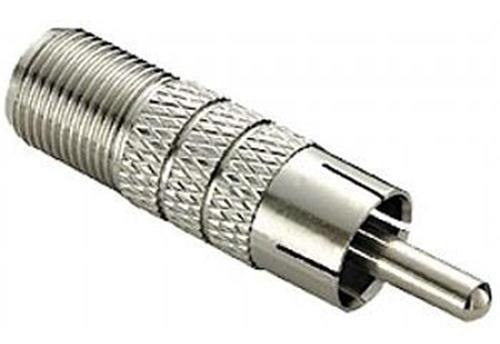 Adaptador Plug Rca Macho X Plug F Fêmea Coaxial