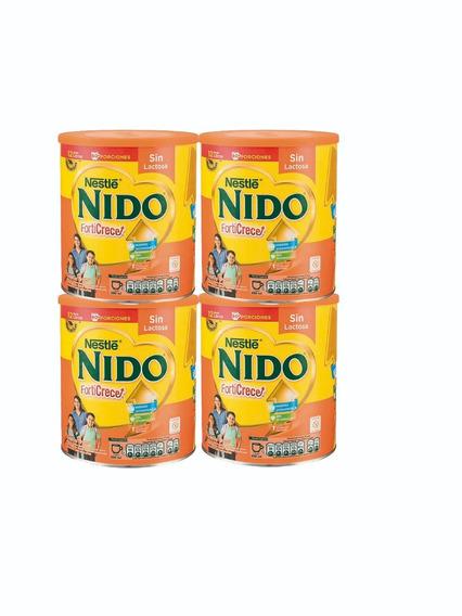 Leche Nido Forticrece Sin Lactosa 1.440g 4 Tarros