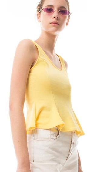 Remera Las Pepas ¡oferta! Musculosa Pixi Amarillo Fucsia