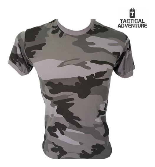 Camiseta Camuflada Cinza Urbano Com Nota Fiscal