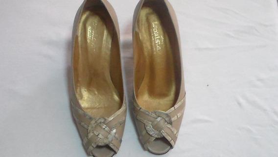Zapatos Tacon Damas Tallas 36 Crema T-5 Marrones T-7 Usados