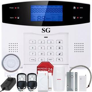 Alarma Dual Gsm Tel Inalambrica Seguridad App Casa Vecinales