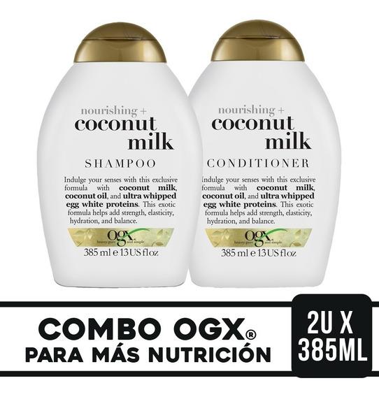 Ogx Combo Coconut Milk Shampoo 385ml + Acondicionador 385ml