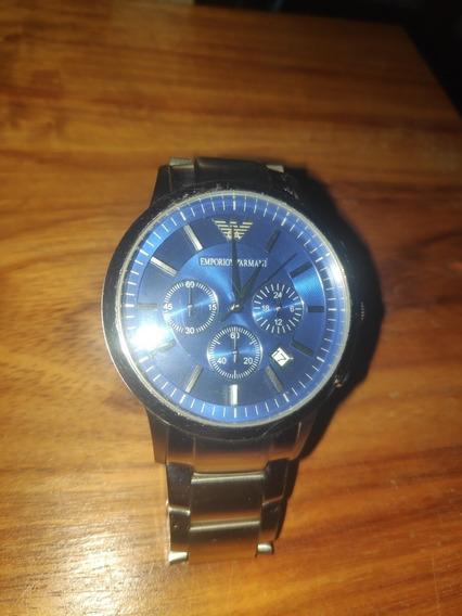 Relógio Emporio Armani Aço Azul Usado