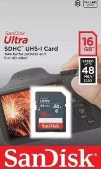 Cartão De Memória Sandisk 16gb 48mb/s