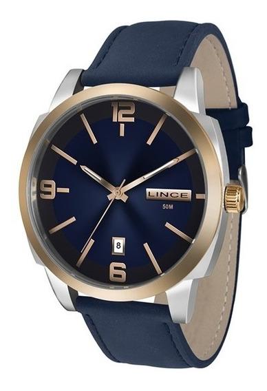 Relógio Lince Mrc4390s D2dx Prata/azul-marinho, Com Design