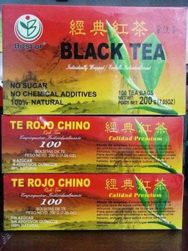 Te Rojo Tea Chino Original X100 Unidades