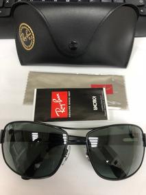 3c9c3333e Óculos Ray Ban Rb3503l 64mm Preto Lente Verde Original