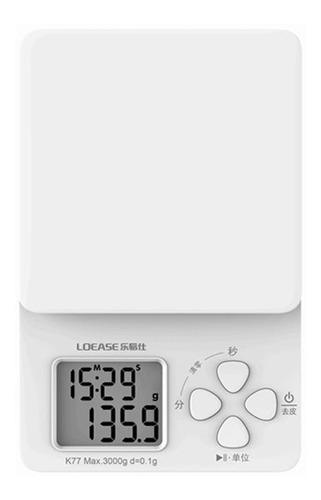 Balança Eletrônica Branca - Com Cronômetro