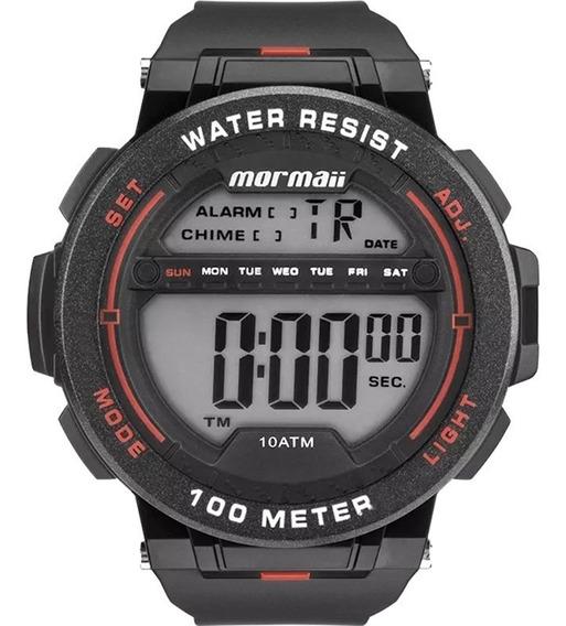 Mormaii Mo9810 Cores Relogio Masculino Crono Alarme Timer Dual Time Data Wr100m Nf 1 Ano De Garantia