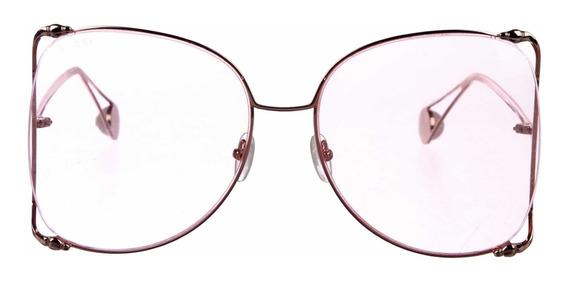 Gafas De Sol Gucci Butterfly Gg0252s Originales Nuevas Rosa