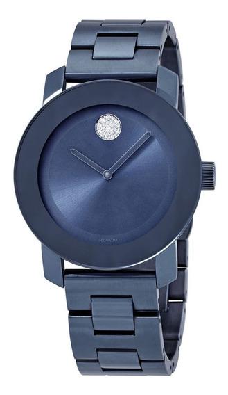 Reloj Movado Acero Azul Mujer 3600494