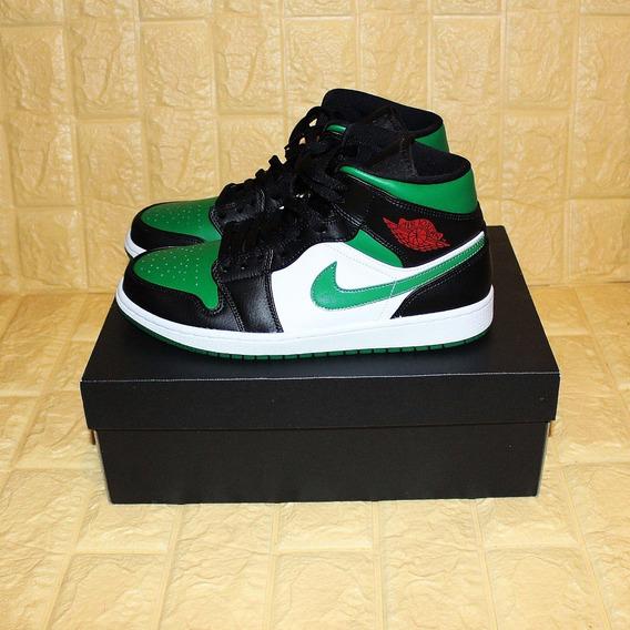 Tênis Nike Jordan 1 Mid Green Toe Original Novo Ds 9.5/41