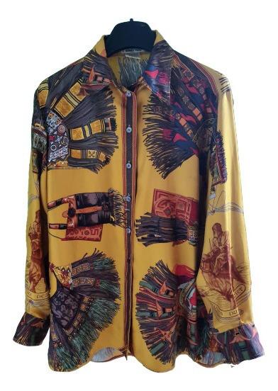 Camisa Vintage Retro Original Hermes
