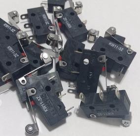 Kit 10 Chaves Microswitch C/roldana 17mm(kw11-3z) 5amp=1,50